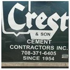 crest son cement contractor concrete contractor palos heights