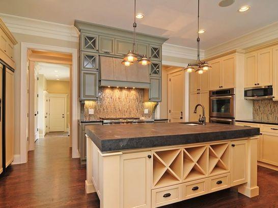 Beige New Traditional Kitchen in Cornelius, NC by Walker ...